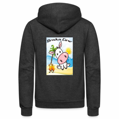 Drunken Cow Beach - Unisex Fleece Zip Hoodie