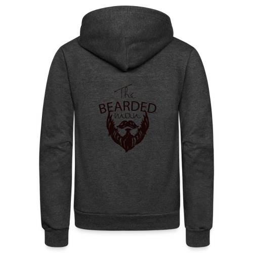 The bearded man - Unisex Fleece Zip Hoodie