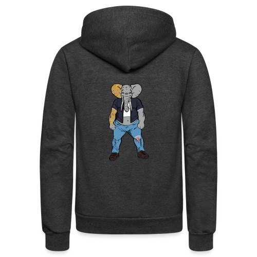 Dumbo Fell in the Wrong Crowd - Unisex Fleece Zip Hoodie
