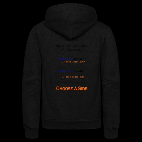 Code Styling Preference Shirt - Unisex Fleece Zip Hoodie