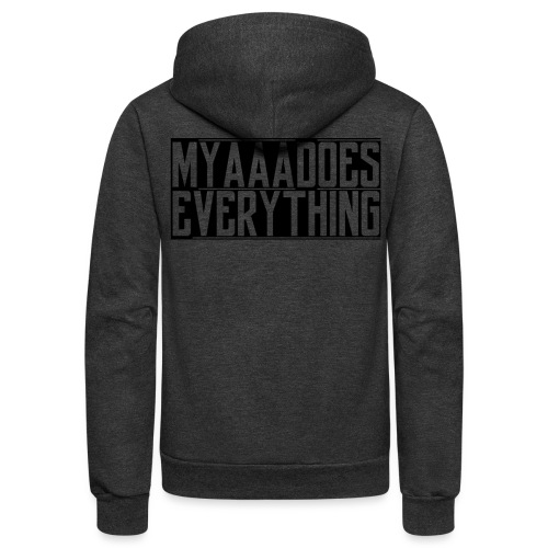 MyaaaDoesEverything (Black) - Unisex Fleece Zip Hoodie