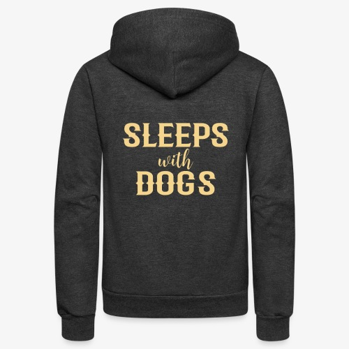 Sleeps With Dogs - Unisex Fleece Zip Hoodie