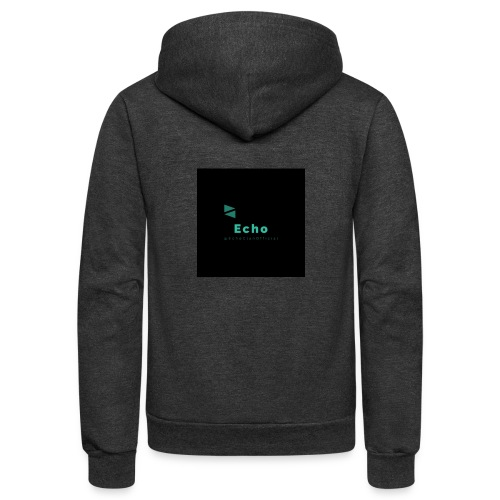 Echo Clan Offical Logo Merch - Unisex Fleece Zip Hoodie