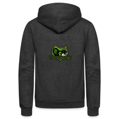 Venomous Text Logo - Unisex Fleece Zip Hoodie