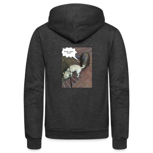 Naughty lil beaver - Unisex Fleece Zip Hoodie