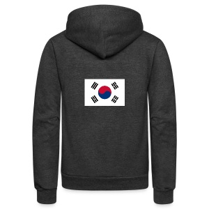 Flag of South Korea - Unisex Fleece Zip Hoodie by American Apparel