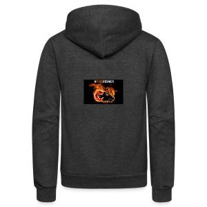 Fire_Fisher - Unisex Fleece Zip Hoodie by American Apparel