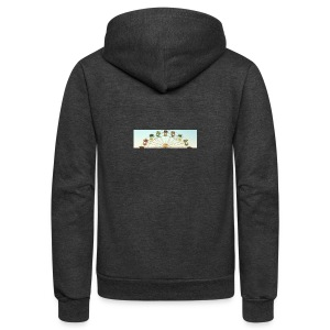 header_image_cream - Unisex Fleece Zip Hoodie