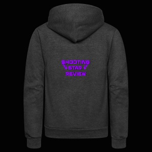 Shooting Star Review Purple Logo - Unisex Fleece Zip Hoodie