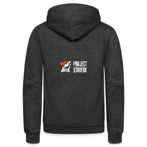 Project STARFOX Banner - Unisex Fleece Zip Hoodie by American Apparel