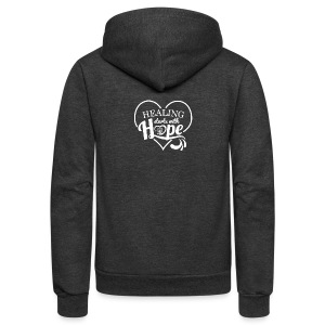 Healing with Hope - Unisex Fleece Zip Hoodie by American Apparel
