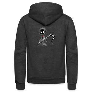 Mr. Grim Edgy - Unisex Fleece Zip Hoodie by American Apparel