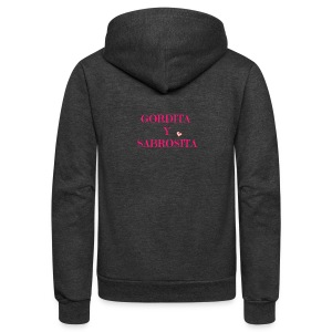 GORDITA Y SABROSITA - Unisex Fleece Zip Hoodie by American Apparel