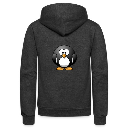 Funny Penguin T-Shirt - Unisex Fleece Zip Hoodie