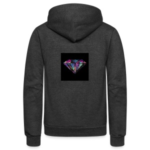 Diamondfashion - Unisex Fleece Zip Hoodie