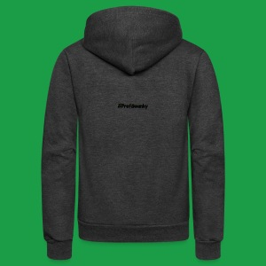 #ProfSwanky - Unisex Fleece Zip Hoodie by American Apparel