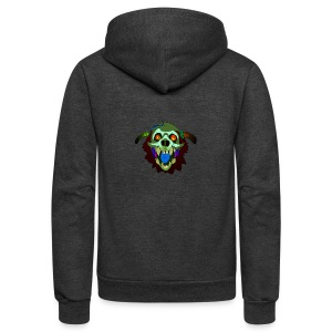 Dr. Mindskull - Unisex Fleece Zip Hoodie by American Apparel