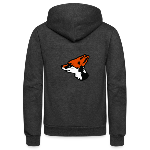 STARFOX Logo Cutout - Unisex Fleece Zip Hoodie by American Apparel