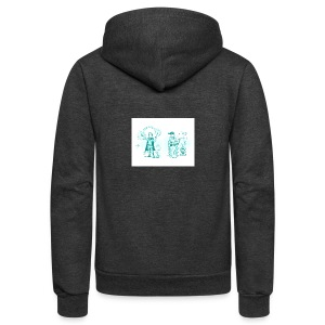 TEST DESIGN - Unisex Fleece Zip Hoodie by American Apparel
