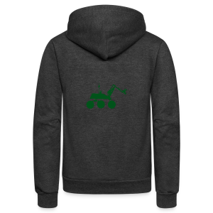 USST Rover Green - Unisex Fleece Zip Hoodie by American Apparel