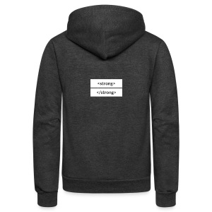 Unisex Fleece Zip Hoodie by American Apparel - A subtle way to show off your strength (and your CSS knowledge).