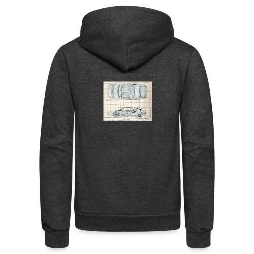 drawings - Unisex Fleece Zip Hoodie
