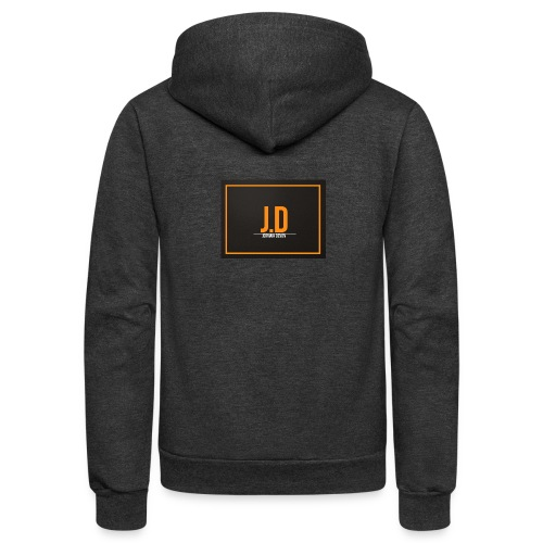 JD Logo Main Line - Unisex Fleece Zip Hoodie