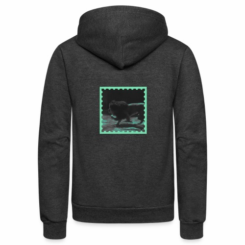 Lion on the prowl - Unisex Fleece Zip Hoodie