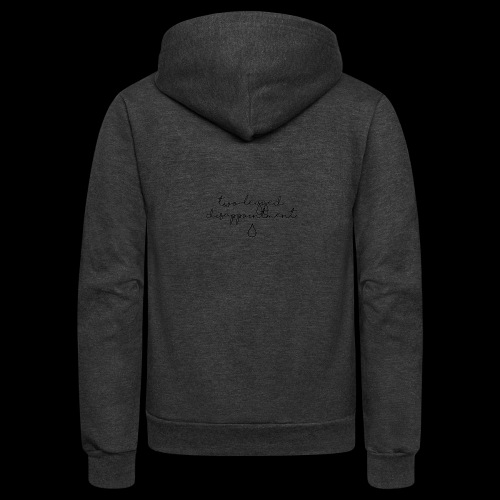 Two-legged disappointment - Unisex Fleece Zip Hoodie