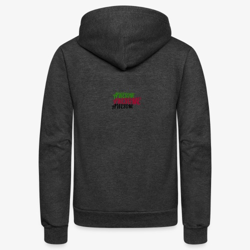 Awesome x3 - Unisex Fleece Zip Hoodie