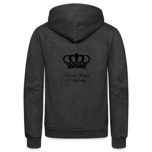 Queensreign2infinity Black - Unisex Fleece Zip Hoodie