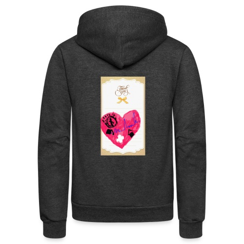 Heart of Economy 1 - Unisex Fleece Zip Hoodie