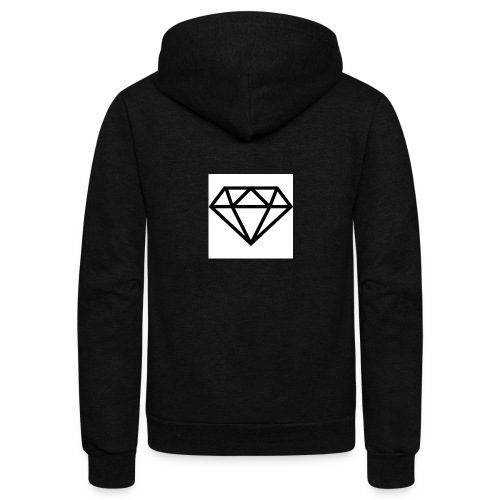 diamond outline 318 36534 - Unisex Fleece Zip Hoodie