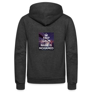 keep calm my name is mohamed 4 - Unisex Fleece Zip Hoodie