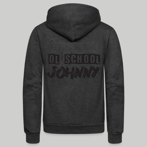 Ol' School Johnny Logo - Black Text - Unisex Fleece Zip Hoodie