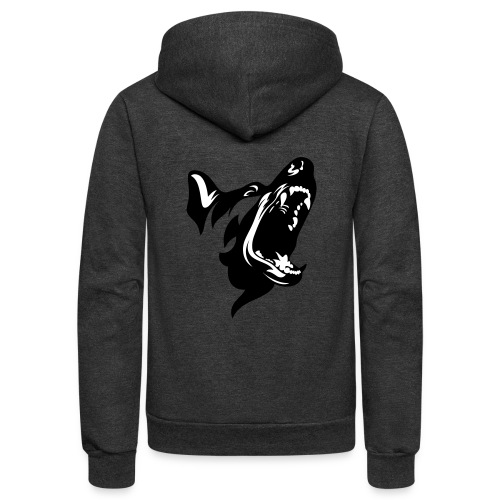 German Shepherd Dog Head - Unisex Fleece Zip Hoodie