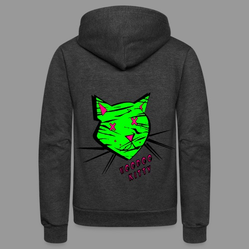 Voodoo Kitty - Unisex Fleece Zip Hoodie