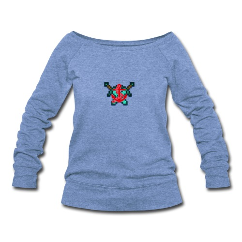 anchor and swords - Women's Wideneck Sweatshirt