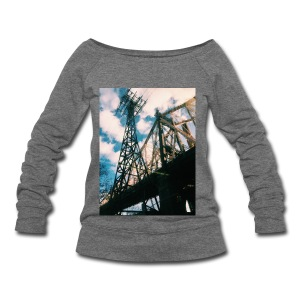 Ed Koch bridge - Women's Wideneck Sweatshirt