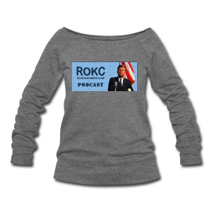 ROKC_Podcast_Logo_spreadshirt - Women's Wideneck Sweatshirt