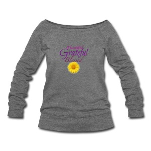 Thankful grateful blessed - Women's Wideneck Sweatshirt