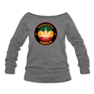 Oakland Grown Cannabis 420 Wear - Women's Wideneck Sweatshirt