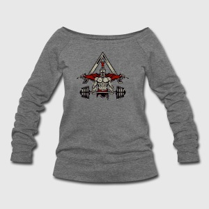 Spartan Weight Lifter - Perfect Gift For Gym Rats - Women's Wideneck Sweatshirt