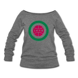 Retro round Iran badge - Women's Wideneck Sweatshirt