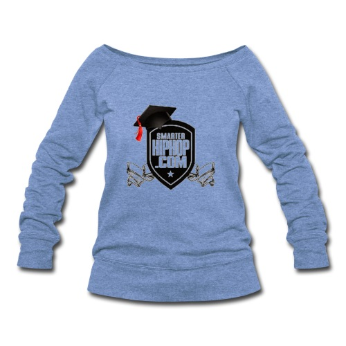 Official Smarterhiphop Merch - Women's Wideneck Sweatshirt