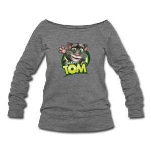Talking_TOM_wave_preview_lowRes - Women's Wideneck Sweatshirt