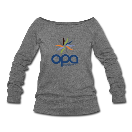 Long-sleeve t-shirt with full color OPA logo - Women's Wideneck Sweatshirt