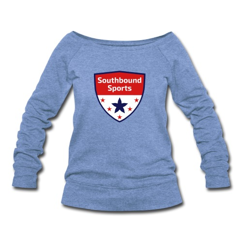 Southbound Sports Crest Logo - Women's Wideneck Sweatshirt