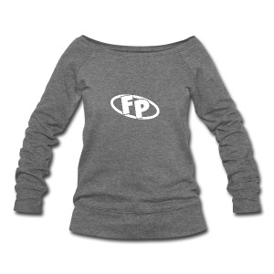 Secondary FRESHPOPCORN Logo - Women's Wideneck Sweatshirt