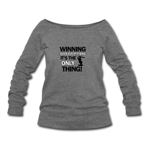 cricket wining tee - Women's Wideneck Sweatshirt